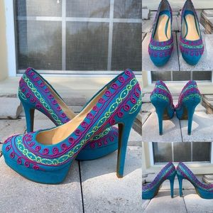 Gianni Bini Multicolored Platform Heels